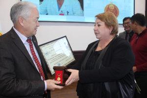 Ректор КГМА поздравила профессоров вуза, получивших государственные награды