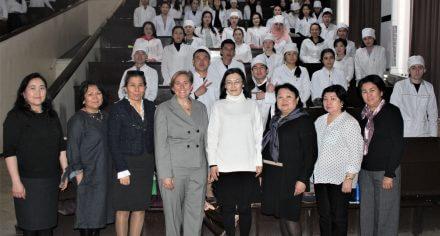 В КГМА прочитала лекцию ученая из США Джилл Мессинг