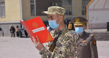 В КГМА прошло мероприятие посвященное принятию военной присяги курсантов -мужчин
