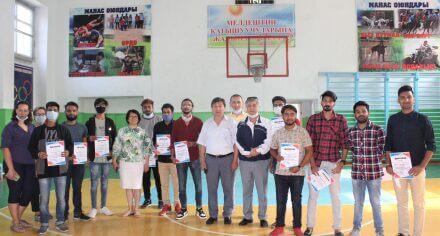 Иностранные студенты КГМА награждены дипломами за достижения в спорте