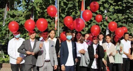 В КГМА прошла торжественная линейка для учащихся лицея