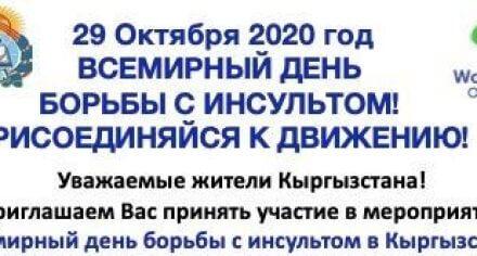 В Бишкеке состоится акция, посвященная Всемирному дню борьбы с инсультом
